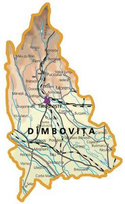 Harta judetul Dambovita
