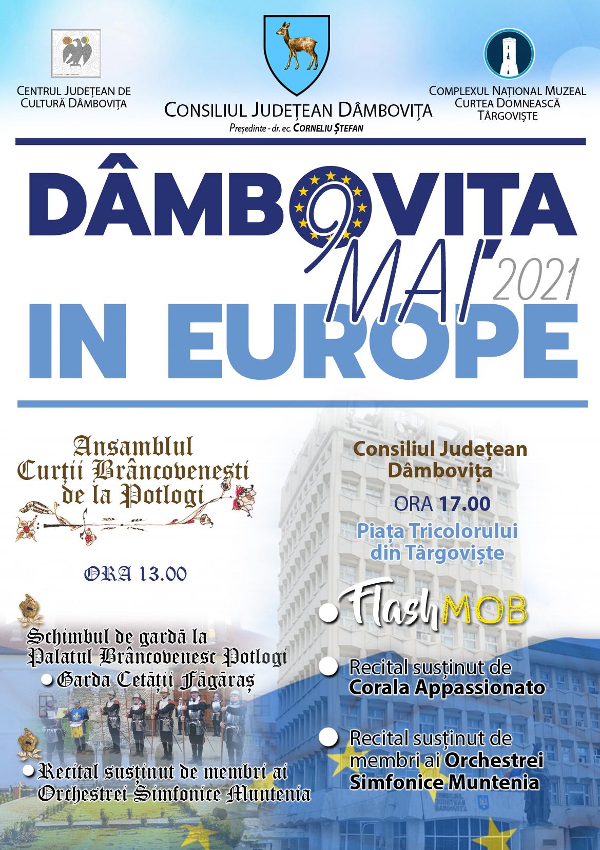 Consiliul Județean Dâmbovița și instituțiile culturale din județ vor celebra prin acțiuni culturale Ziua Europei