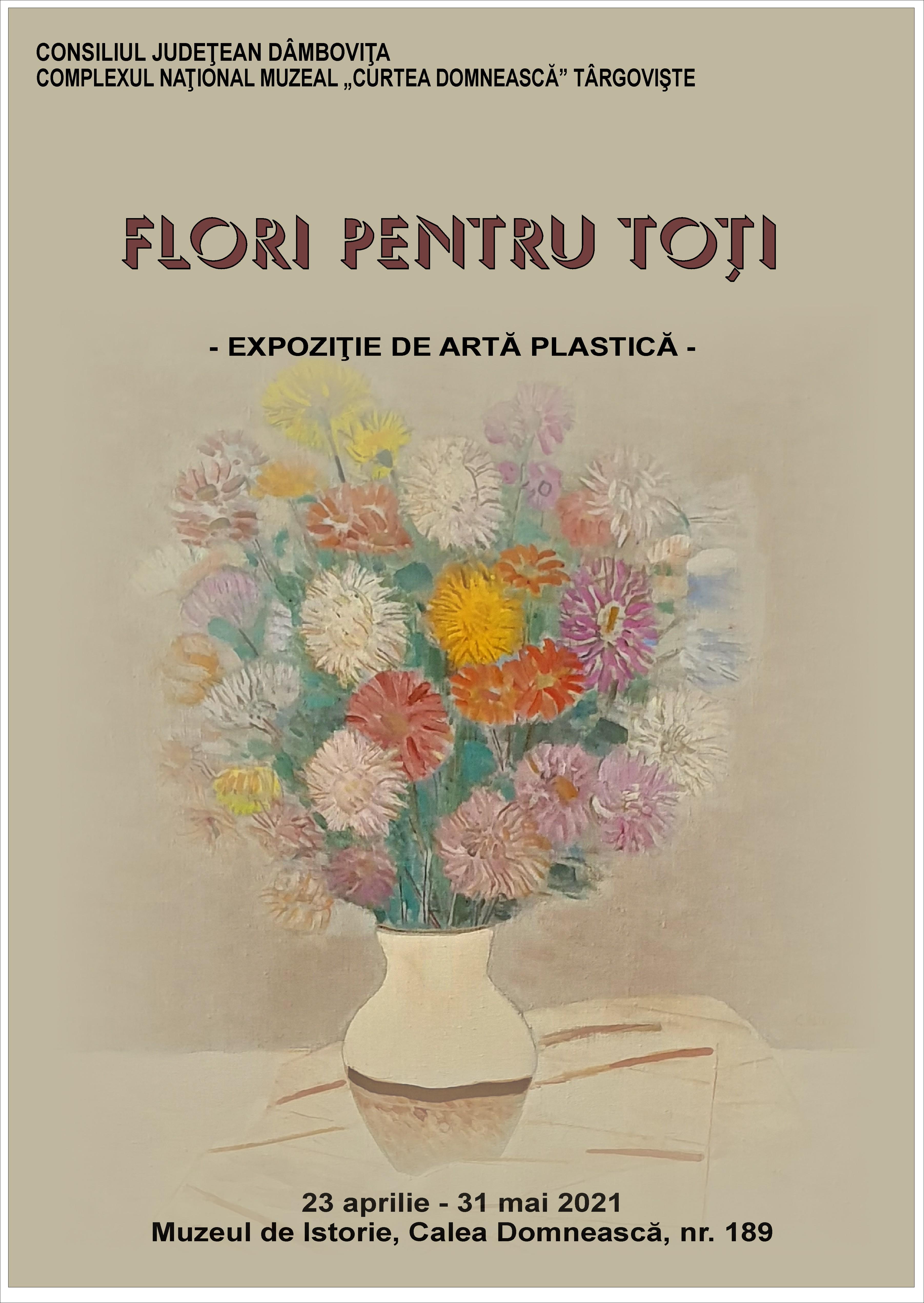 """Expoziţia de artă plastică """"Flori pentru toţi"""""""