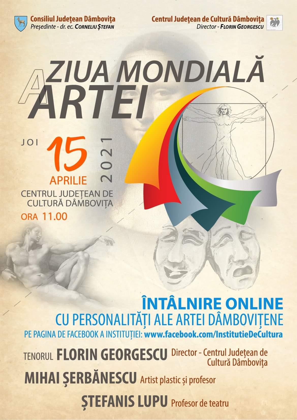 În fiecare an, pe data de 15 aprilie este marcată Ziua Mondială a Artei
